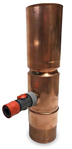 Fallrohr Regensammler von CurtMaxx [Kupfer] | Regenwassersammler mit Anschluss für Gartenschlauch (Kupfer, Ø 100)