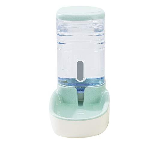 Herewegoo Alimentadores Automáticos para Mascotas Perros Gatos de Gran Capacidad de Bebida Fuente Dispensador de Agua o Alimentación, Verde, water feeder