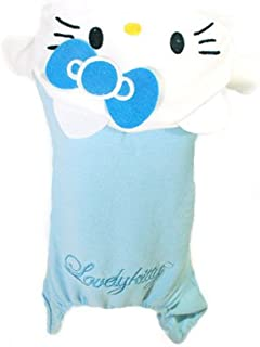 PET APPAREL: Hello Kitty Hoodie Sweater Sweatshirt One piece Clothing Shirt, Sky Blue & Pink, for PUPPY DOG CAT