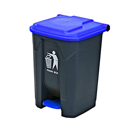 Best Price LXF Outdoor Waste Bins Plastic flip Trash can Black Wheelie bin (Color : Purple, Size : 8...