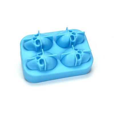 Eishockeyform Eishockey Backform 4 Eisplatten Eiswürfelform Rund Eiswürfelmaschine Küchenhelfer Silikon Eiswürfelform Kreative Eiswürfelbehälter Frischhaltebox blau