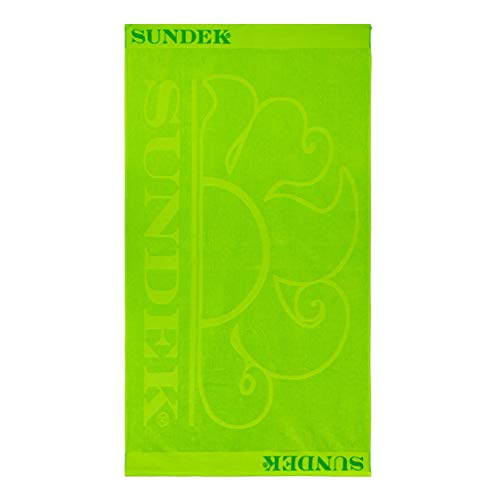 SUNDEK AM379ATC1000 - Toalla de playa de algodón verde fluorescente