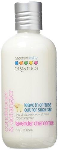 Nature's Baby Organics Revitalisant et démêlant, camomille lavande 8 oz (2-pack) - bébés, enfants, adultes! hydratant, doux, riche, hypoallergénique