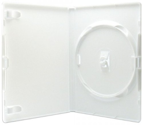 Amaray - Caja para DVD individual (14 mm, 50 unidades), color blanco