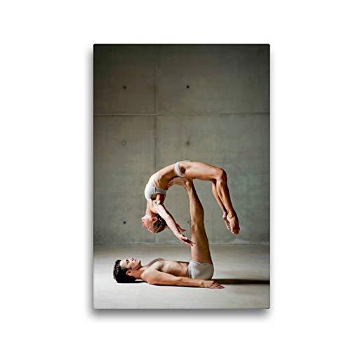La Bailarina de Ballet se Encuentra Relajada en los pies de su Pareja, 30 x 45 cm