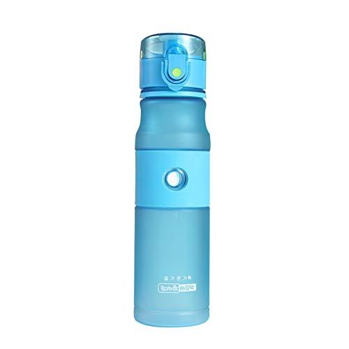 Botella Agua Gimnasio Botella Agua Botella de Agua Clara Los niños Botellas de Agua Deportes Frasco Lindo Botella de Agua Blue,620ml