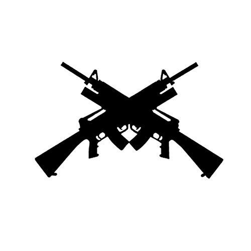 ZQZL 15,6 * 9,7 CM Pistola Interesante Pegatina para Coche decoración de Vinilo Parachoques Ventana Accesorios gráficos