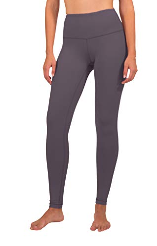 90 Degree By Reflex High Waist Squat Proof Interlink Leggings for Women - Twilight Mauve - Small