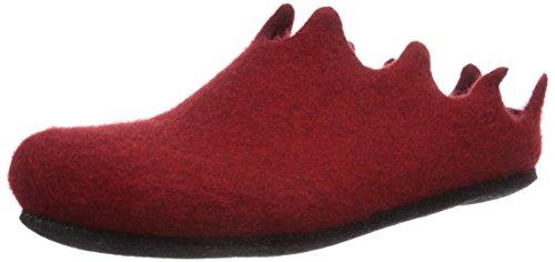 MagicFelt Damen VE 721 Flache Hausschuhe Rot (4823 Rubin) 40 EU