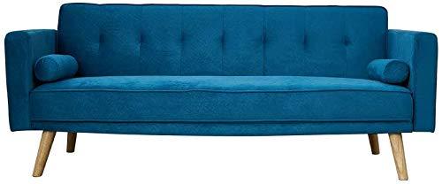 Koyh 3 Personas Hechas de Tela y la Tela de la Moderna Manera Simple plazas sofá Marco de Madera para la Oficina Sitio de la Cama sofá de la Sala,Blue