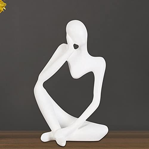 Sculpture de Figure Abstraiite, Ornes de Figure Élégants de Style de Style de Conception Abstraite, pour Les Accessoires de Maison Décoration de la Maison Chambre Salon
