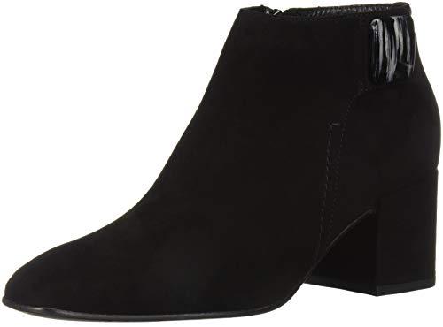Aquatalia Women's Cameo Suede Ankle Boot, Black, 9 M US