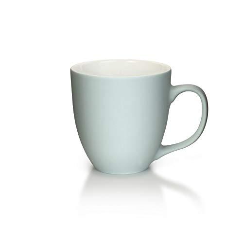 Mahlwerck Jumbotasse, Große Porzellan-Kaffeetasse mit Soft-Touch Oberfläche, in Soft Grau-Blau, 400ml