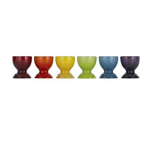 Le Creuset Eierbecher-Set, 6-teilig, Je 5,8 cm, Steinzeug, Regenbogen