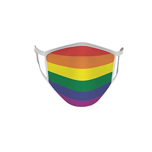 U24 Behelfsmaske Mund-Nasen-Schutz Stoffmaske Maske Regenbogen