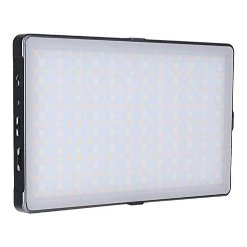 Rollei Lumis Slim LED M RGB LED-Dauerlicht, Videoleuchte mit 276 LED´s,3200K-5600K,18.5 W, 21 Effekte,360 Farbnuancen und 1900 lux (0.5m bei 5500K)