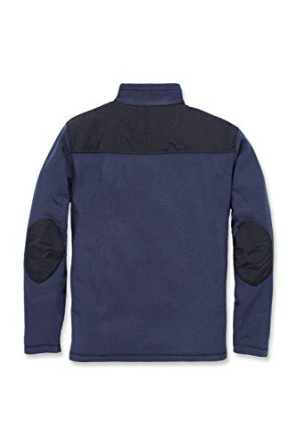 Carhartt Men's 102836 Fallon Half-Zip Sweater Fleece - Medium - Navy