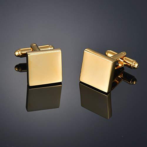 Gemelos de calidad de color dorado con letras, extranjero, cuadrado, dragón, hojas de arce, equilibrio, nombre para hombre, color del metal: 13