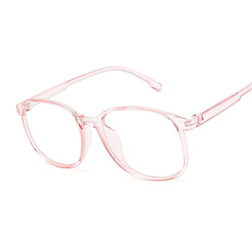 Heigmz Nvtyj Gafas de sol para mujer Gafas transparentes Lentes transparentes Gafas Retro Gafas Mujer Gafas Mujer Gafas Mujer Gafas Color del Montura: Rosa