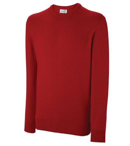 Ashworth Pull à manches longues et col rond en laine d'agneau Rouge 3XL - - XXXL
