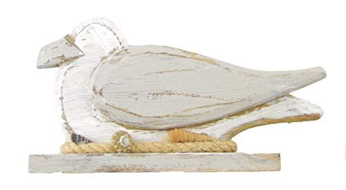 maritime Holz Serie grau-weiss ┼ Steuerrad ┼ Leuchtturm ┼ Rettungsring ┼ Truhe ┼ Möwe ┼ Deko - Nautic