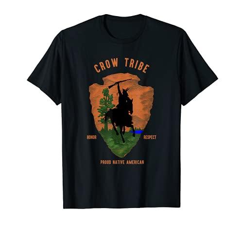 Crow Tribe Native American Indian Vintage Flecha Retro Camiseta