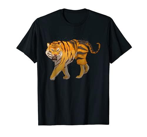 Origami Felidae Tiger - Papel para gato depredador, diseño japonés Camiseta