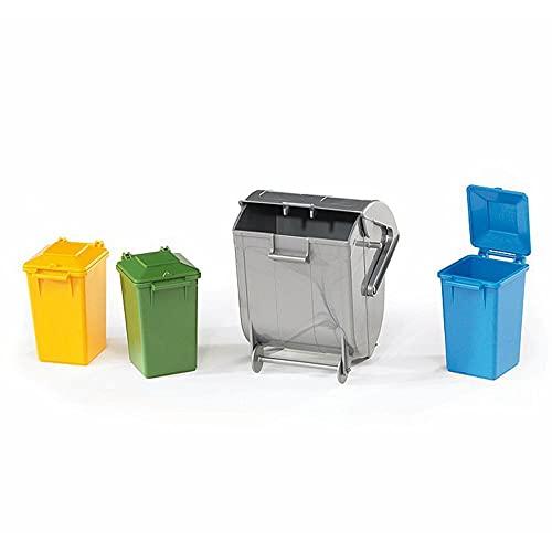 Bruder 2607 - Conjunto de Contentores de Lixo (3 Pequenos e 1 Grande)