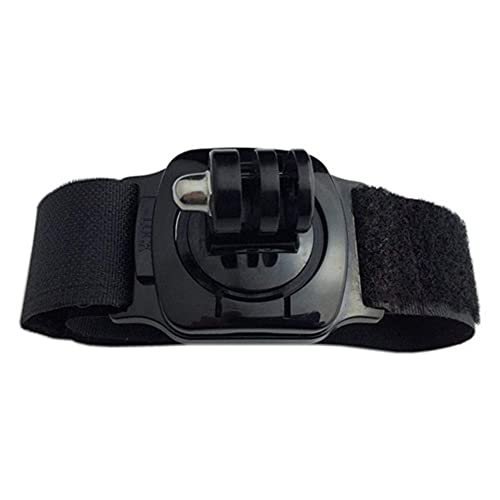 GzxLaY Nuevo Soporte de Correa de Mano con Brazalete Giratorio de 360 Grados para Gopro Hero 8/6/3/4/5 para Xiaomi Yi para Accesorios de cámara SJCAM SJ4000 H8 H9. (Color : Black Color)