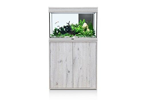 Aquatlantis Meuble pour aquarium Fusion LED 80x40x55 chêne blanc