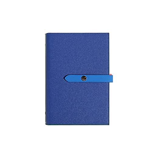 LYLY Notizbuch, Notizbuch, Tagebuch, klassisches Hardcover, 100 g, dickes Premium-Papier mit feiner Innentasche, Leder-Notizblock für Journaling Journal (Farbe: Blau)