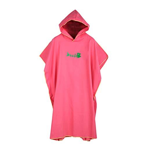 FADDARE Toalla con capucha poncho para adultos, sin mangas, para la playa, portátil, de microfibra, tamaño universal, secado rápido, supersuave para surfistas, nadadores