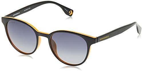 Converse SCO048524GCP - Gafas de sol ovaladas, color negro y amarillo