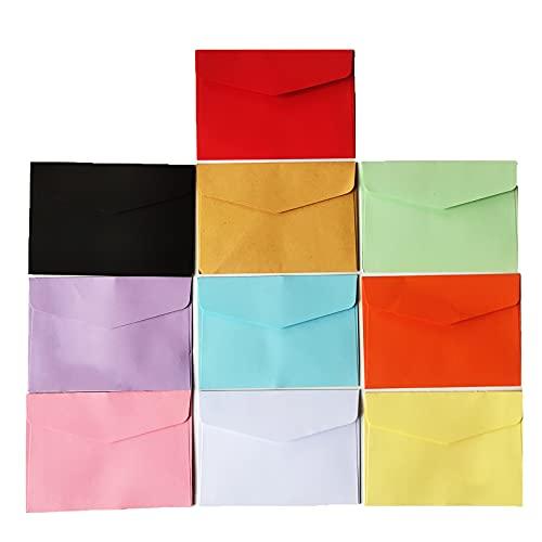 100 Piezas Mini Sobre, Mini Sobres de Colores, Sobres Dulces Lindos Multicolores, para Invitación de Boda, Fiesta de Cumpleaños, Tarjeta de Felicitación de Regalo