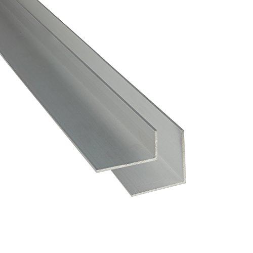 Aluminium Winkel silber eloxiert 1-2 m L Profil Aluminiumprofil Winkelprofil 50 x 20 x 2 mm x 2.000+-4 mm