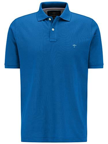 FYNCH-HATTON Herren Polo, Basic Poloshirt aus Reiner Baumwolle, Blau (Royal 645), XXXX-Large (Herstellergröße: XXXXL)