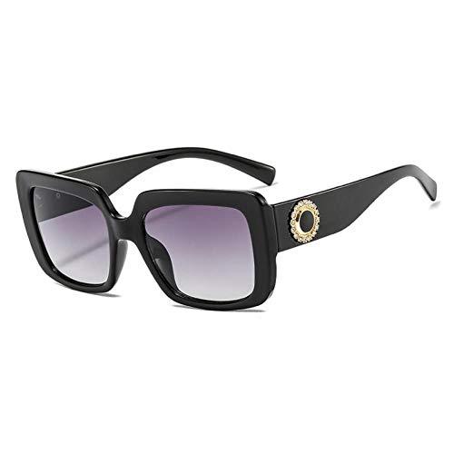 ZZOW Gafas De Sol Cuadradas De Lujo con Decoración De Diamantes para Mujer, Diseñador De Marca, Gafas Gradiente Vintage, Montura De Gafas Transparentes para Hombres