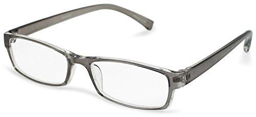 デューク 老眼鏡 +1.5 度数 エアフォルクカラーズ 形態安定樹脂フレーム ソフトケース付き クリアグレー DR-47-2+1.50