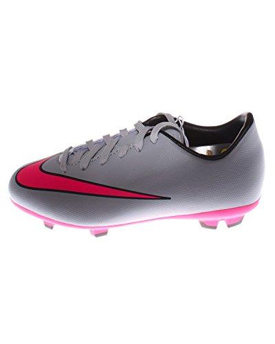 Nike Jungen Jr Mercurial Victory V Fg Fußballschuhe, Grau (Wolf Grey/Hyper Pink-Black-Black 060), 35.5 EU