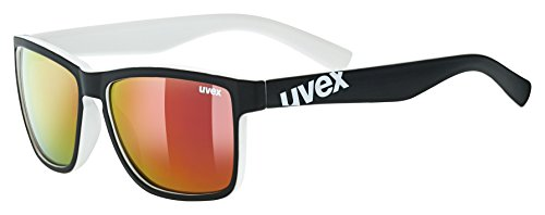 uvex Unisex– Erwachsene, lgl 39 Sonnenbrille, black mat white, one size