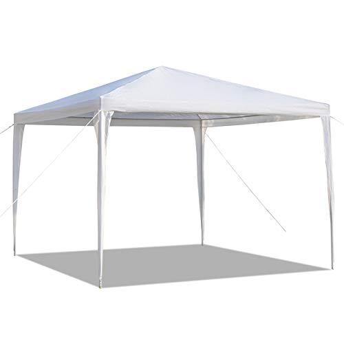 10x10 FT Pop Up Canopy Tent , Outdoor Commercial Instant Shelter, Portable Waterproof Canopies with Spiral Tubes for Party Weeding Picnics Camping Market Stall