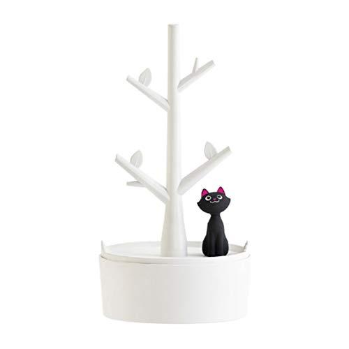 Cabilock Soporte para joyas, diseño de árbol, color blanco