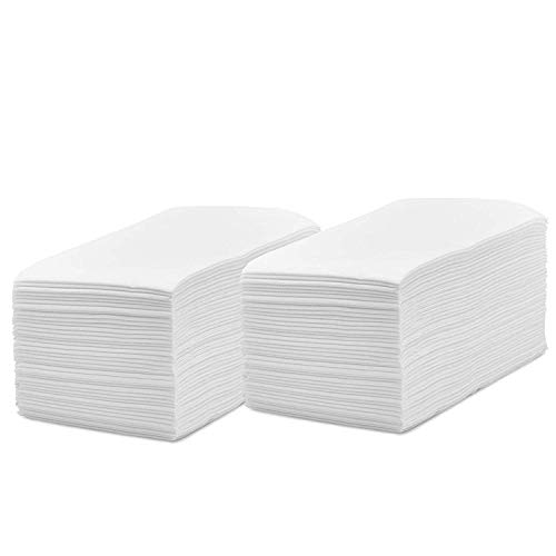 Linen Feel Disposable Guest Hand Towels, Cloth Like Napkins Tissue Paper for Bathroom and Kitchen. (White, 200)