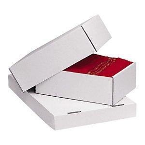 Preisvergleich Produktbild 1 Verpackungseinheit (25 Stück) weiße StülpdeckelkartonsInnenmaße: L 305 mm x B 215 mm x min / max H 50 / 90 mmgeeignet für DIN A4