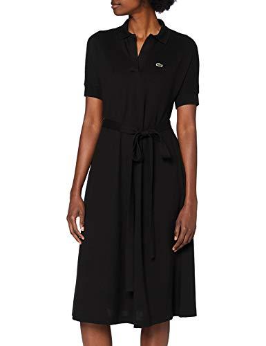 Lacoste Ef2302 Vestido, Negro, XL para Mujer