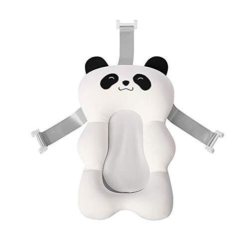 Pictury Baby-Badekissen Neugeborenes Badekissen Luftkissen Schwimmende Badewanne Badewanne Pad Weiche Baby-Bad Kissen Kissenzubehör (Weißer Roter Panda)
