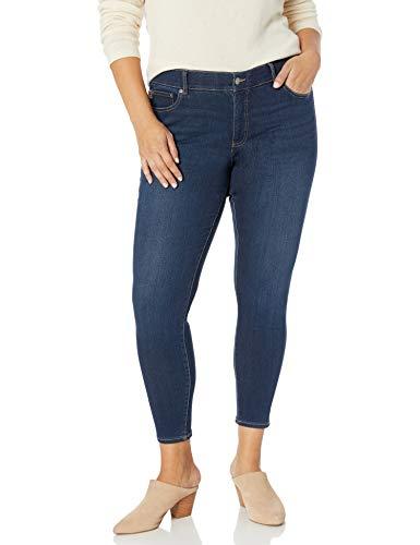 Chaps Women's Plus Size Four Way Skinny Fit Stretch Denim, Bedford Wash, 22W