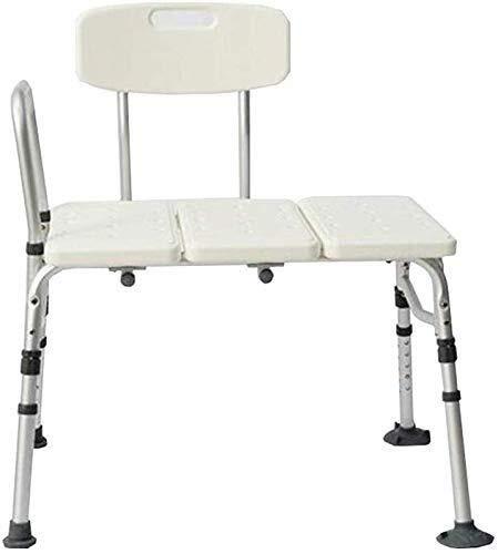 Yxsd Douchekruk senioren/moederschap/kind badkamer kruk badstoel aluminium leuning rugleuning doucheligstoel 160 kg