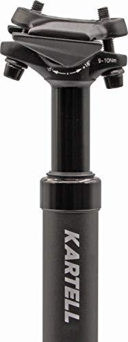 Kartell ® Sattelstütze gefedert aus Aluminium | Federsattelstütze für MTB, Trekking/City und E-Bikes | erhältliche Durchmesser 27.2 mm, schwarz