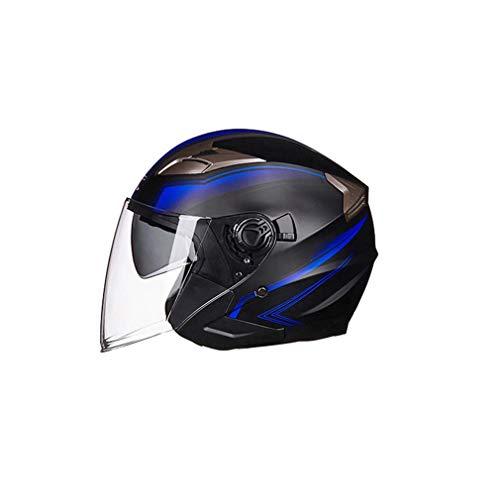 Kitechildhood Casco de Moto de Casco Abierto Moto Piloto de ciclomotor Jet...
